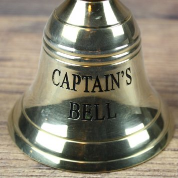 "Tischglocke, Messing ""Captains Bell"" - 16,5 x 8,5 cm"